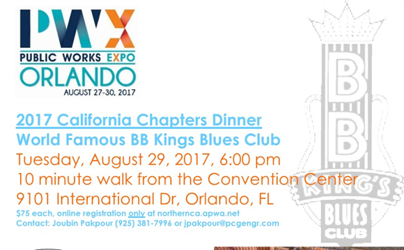 California Chapter Dinner - Aug. 29th @ PWX